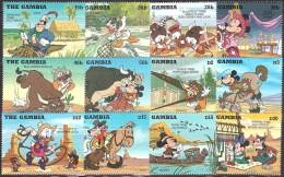 Walt Disney  MiNr. 2223 - 2238 (Block 270) Gambia  MNH / ** / POSTFRISCH - Disney