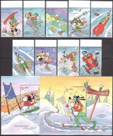 Walt Disney  MiNr. 1799 - 1809 (Block 217) Gambia  MNH / ** / POSTFRISCH - Disney