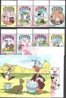 Walt Disney  MiNr. 1834 - 1843 (Block 223) Gambia  MNH / ** / POSTFRISCH - Disney