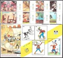 Walt Disney  MiNr. 1434 - 1443 (Block 169) Gambia  MNH / ** / POSTFRISCH - Disney