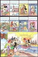 Walt Disney MiNr. 1329 - 1338 (Block 147) Gambia  MNH / ** / POSTFRISCH - Disney