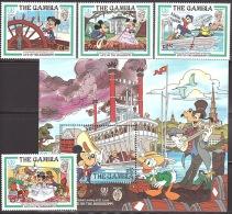 Walt Disney  MiNr. 566 - 570 (Block 15) Gambia  MNH / ** / POSTFRISCH - Disney