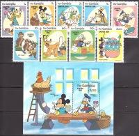 Walt Disney MiNr. 507 - 516 (Block 9) Gambia   MNH / ** / POSTFRISCH - Disney