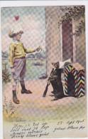 CARD   CANE BASSOTTO - BASSET SAUS-SAGE DOG GIOCA  BIMBO MILITARE     FP-V-2 -0882 21715 - Chiens