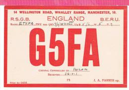 Carte QSL England    1935 - Non Classificati