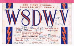 Carte QSL USA   1934 - Non Classificati