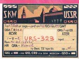 Carte QSL URSS   1935 - Carte QSL