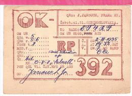 Carte QSL Tchecoslovaquie  1935 - Non Classificati