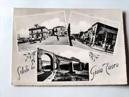 Carte Postale Ancienne: Saluti Da GIOIA TAURO,   2 Timbres - Reggio Calabria