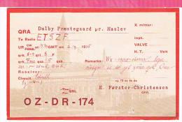Carte QSL DENMARK   1935 - Non Classificati