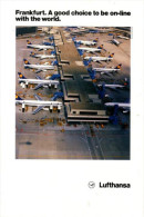 Frankfurt Airport Aerial View Lufthansa Aircraft 1988 - Advertisements