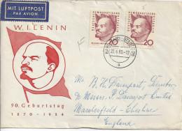 Germany (DDR) 1960  Lenin  FDC Mi. 762 - [6] Democratic Republic