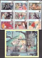 Walt Disney  MiNr. 597 - 606 (Block 52) Antigua Und Barbuda  MNH / ** / POSTFRISCH - Disney