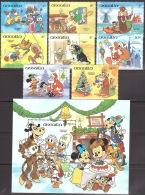 Walt Disney  MiNr. 620 - 629 (Block 59) Anguilla  MNH / ** / POSTFRISCH - Disney