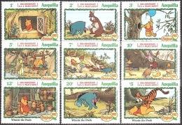 Walt Disney  MiNr. 515 - 523 Anguilla  MNH / ** / POSTFRISCH - Disney