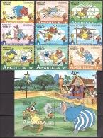 Walt Disney  MiNr. 501 - 510 (Block 45) Anguilla  MNH / ** / POSTFRISCH - Disney