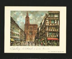 Strasbourg La Cathedrale Et La Merciere , 1979 Editions Pram Paris - Wunderschöner Druck Ca. 20  X 15 Cm , (A4) - Ohne R - Drucke