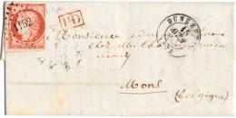 N°5 (orange Brique/carmin, Nuance Superbe) Obl. PC 1152 De Dunkerque 1853 - Cote  N°5d Rouge-orange Foncé : 1600 Euros - 1849-1850 Cérès