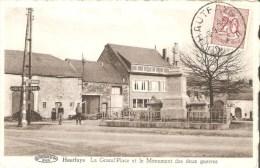 Haut Fays La Grand Place Et Le Monument Des Deux Guerres - Daverdisse
