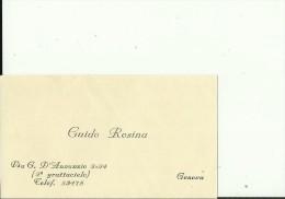 ITALIA  --  VISITING CARD  --   GUIDO ROSINA  --  GENOVA - Visitenkarten