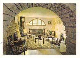 Cp, Commerce, Chateauneuf-en-Auxois (21) - Hostellerie Du Château, Le Salon - Restaurants