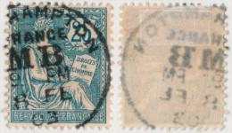 """Mouchon N° 127 - Obl. Boite Mobile Anglaise """"Southsampton / MB"""" - 1900-02 Mouchon"""