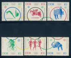 BL1-298 DDR, EAST GERMANY 1964 MI 1039-1044 SPORT, OLYMPICS TOKYO, JUDO, CYCLING, ATHLETICS. MNH, POSTFRIS, NEUF**. - Summer 1964: Tokyo