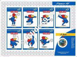 Planche Neuve Coupe Du Monde 98 - La Mascotte Et Le Timbre à 3,00 F (1) - Documenti Della Posta