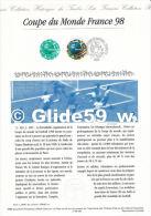 Document Philatélique Officiel édité Par La Poste - Coupe Du Monde France 98 - Documenti Della Posta