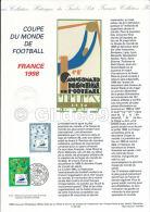 Document Philatélique Officiel édité Par La Poste - Coupe Du Monde De Football France 1998 - Documents De La Poste