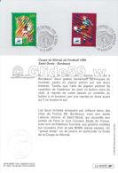 Coupe Du Monde France 1998 - Dessiné Par Louis Briat - Saint-Denis - Bordeaux - Documenti Della Posta