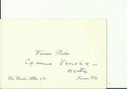 ITALIA    --  VISITING CARD  --  VIVIAN PIETRO  --  TAVARO, VENETO - Visitenkarten