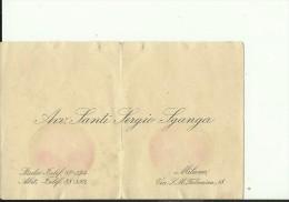 ITALIA    --  VISITING CARD  --  AVV.  SANTI SERGIO SGANGA  --  MILANO - Visitenkarten