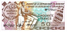 BURUNDI   50 Francs   Daté Du 01-05-1993   Pick 28c     ***** BILLET  NEUF ***** - Burundi