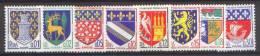 France N° 1351 A à 1354 B ** Armoiries, Blasons - Niort  Gueret  Amiens  Troyes  Agen  Nevers  St Pol  Paris - Ungebraucht