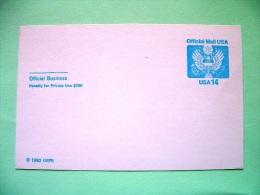 USA 1982 Unused Official Pre Paid Postcard - Eagle - United States