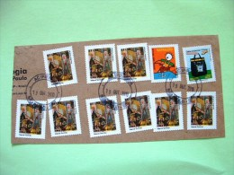 Brazil 2010 Part Of Cover To Nicaragua - Theatre Music Piano - Postal Bag - Shoemaker - Brazil
