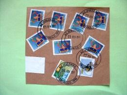 Brazil 2011 Part Of Cover To Nicaragua - Postal Motorcycle - Music Instrument Trumpet - Telegram Telegramme - Brazil