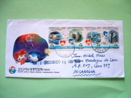Korea South 2012 Cover To Nicaragua - EXPO 2012 - Pavillion - Big-O, Tower - Corea (...-1945)
