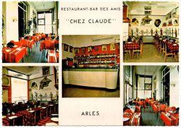 Mehrbild-Farbfoto-AK Restauant-Bar des Amis Chez Claude in Arles