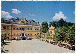 Farbfoto-AK Schlo�restaurant Hellbrunn in Salzburg