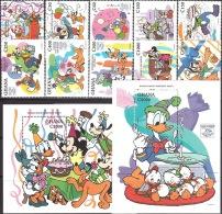 Walt Disney MiNr. 2121 - 2132 (Block 267) Ghana   MNH / ** / POSTFRISCH - Disney