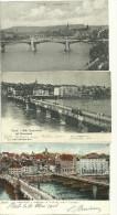 Suisse Bale Basel Alte Rheinbrucke Vieux Pont Du Rhin Lot 3 Cartes - BS Basel-Stadt