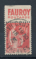 Paix 50c Rouge Type II Pub Fauroy Moutarde - Advertising