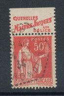 Paix 50c Rouge Type II Pub Fauroy Quenelles Maitre Jacques - Publicités