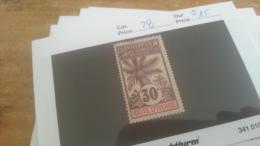 LOT 225934 TIMBRE DE COLONIE COTE IVOIRE NEUF* N�28 VALEUR 15 EUROS