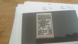 LOT 225935 TIMBRE DE COLONIE COTE IVOIRE NEUF* N�26 VALEUR 11,6 EUROS