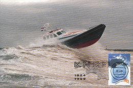 D18297 CARTE MAXIMUM CARD FD 1999 NETHERLANDS - RESCUE VESSEL SAUVETAGE CP ORIGINAL - Ships