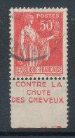 Paix 50c Rouge Type IV Pub (Pétrole Hahn)contre La Chute Des Cheveux (grande Pub) - Advertising