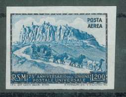 SAN MARINO - 1951 75 YEARS UPU PROOF - Essais & Réimpressions